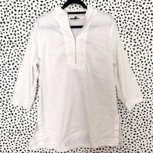 Eileen Fisher | White Tunic length pop over  top L